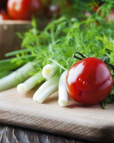 Concept of healthy vegan food