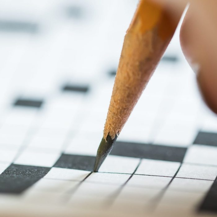 Using a Pencil on a Crossword Puzzle